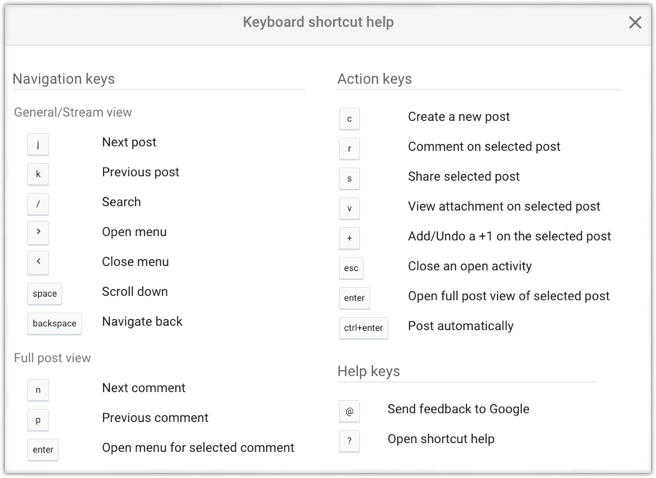 google-plus-keybord