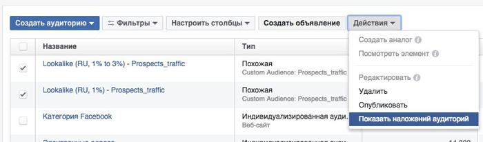 Facebook реклама и 8 причин ее отклонить. Показать наложенные аудитории