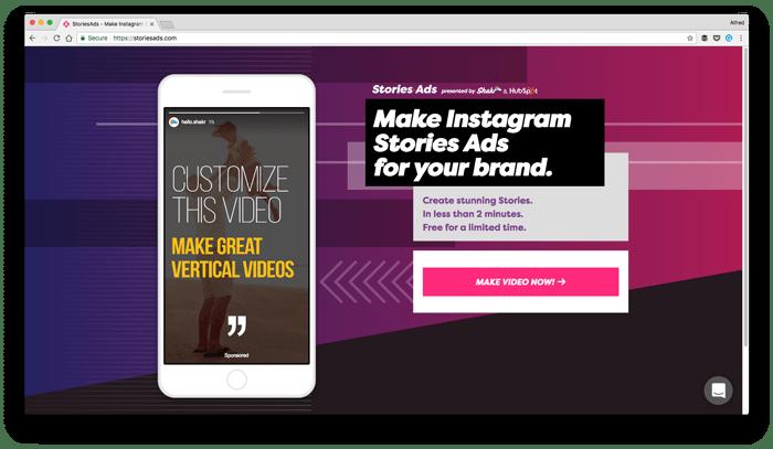 Истории в Инстаграм. Stoies Ad