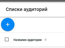 Ремаркетинг Google Adwords. Создать