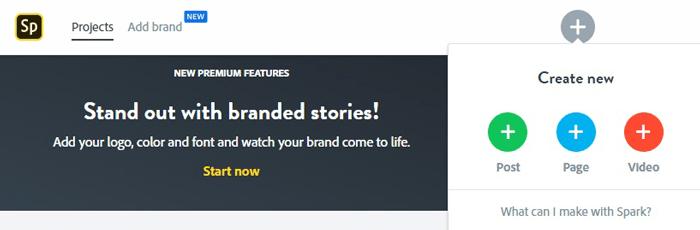 Истории Instagram для формы подписок. Adobe Spark пост