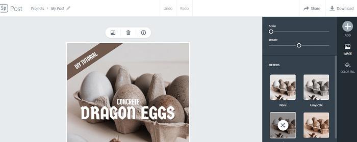 Истории Instagram для формы подписок. Adobe Spark редактировать