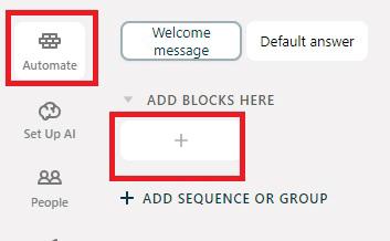 Как добавить чат бот Facebook. Блоки