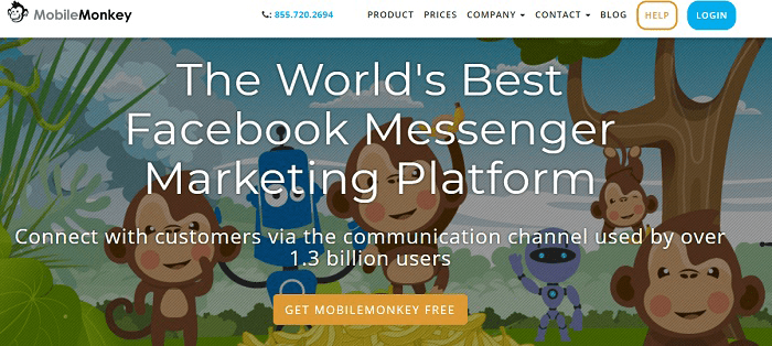 Комментарии в Facebook. Mobile Monkey