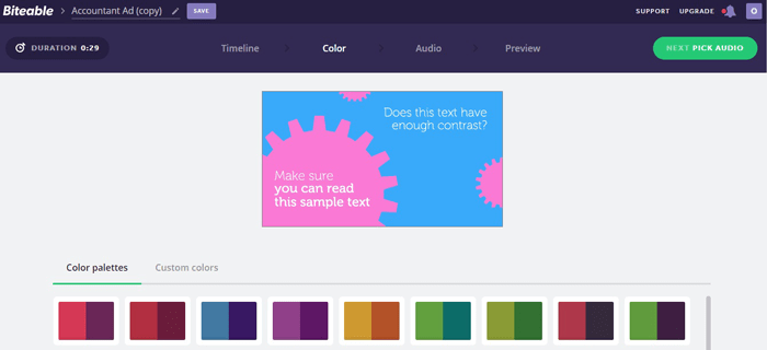 Создание видеороликов 3 сервиса. Цвет