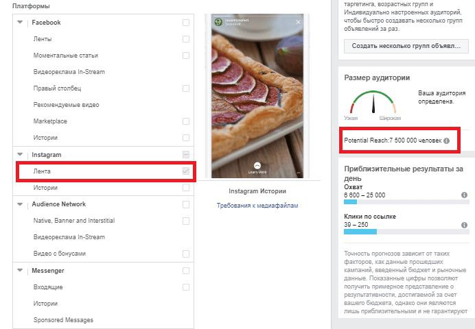 Аудитория Инстаграм и Фейсбук: как сравнивать. Инстаграм лента
