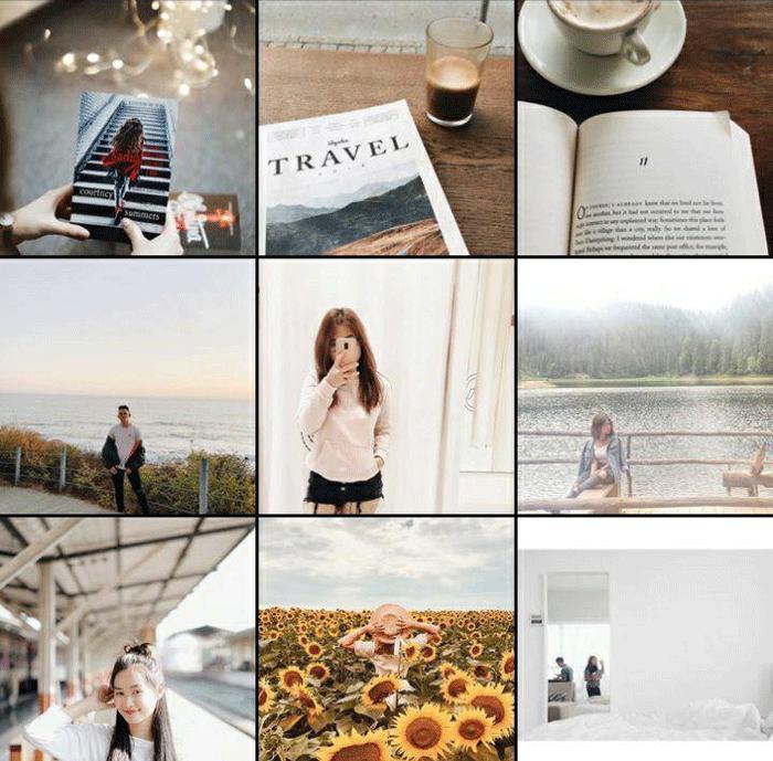 на изображении органичные фильтры для instagram