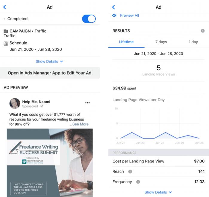 Facebook business suite. Реклама