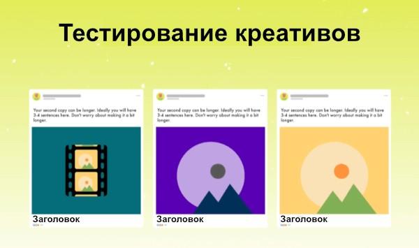 Тестирование рекламы. Креатив